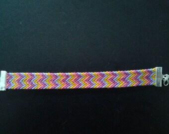 Bracelet friendship pattern W with lobster clasp (16, 5cm)