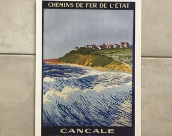 "Vintage French Poster for ""BRITAIN"" Cancale 1701187"