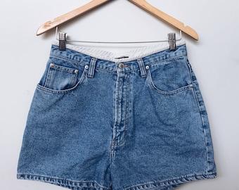 High Waisted 90s Blue Denim Shorts