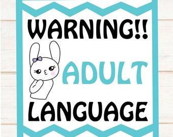 Adult Language --- New Mini Size Sheet -- Nap W**** --- 513