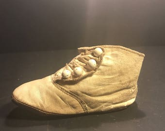 Vintage Leather Baby Shoe