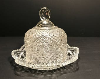 Avon Butter Dish With Domed Lid Made By Fostoria