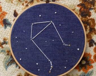 "Libra Constellation in a 6"" Hoop"