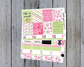 Life is Sweet - Watermelon Planner Sticker Kit for use with ERIN CONDREN LIFEPLANNER™