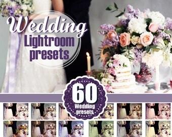 "60 wedding Lightroom Presets ""Wedding Pro"" for Creative Photographers, romantic, bride, Film Wedding, Professional Lr presets"
