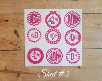Personalized Vinyl Name Labels & Monograms - 3 Choices