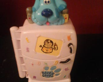 Vintage Blues Clues Fridge Fun Electronic Talking Learning Refrigerator Works Great