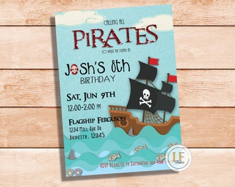 Pirate Ship Party Invite