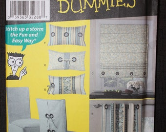 Simplicity 2765   Sewing for Dummies Pillows, Roman Shades and Chair Covers