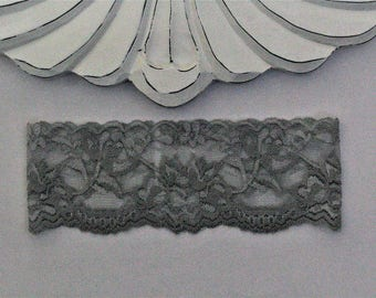 Lace Gray Bridal Garter, Wedding Garter, vintage wedding garter