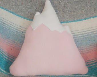 Light Pink Mountain Pillow, Nursery Decor, Baby Shower, Newborn Gift,
