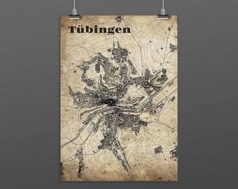 Tübingen DIN A4 / DIN A3 - print - turquoise