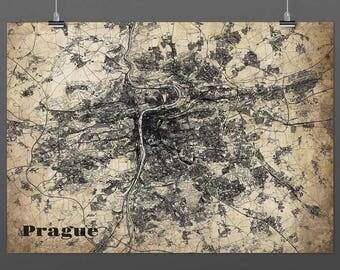 Prague din a4/DIN A3-Print-Vintagestyle