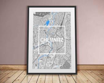 Chemnitz-Framed City-digital printing