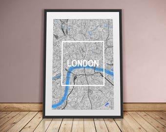 LONDON-framed City-digital printing
