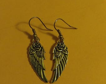 Rose Angel Wing Earrings