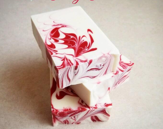 Candy Cane Silk Soap