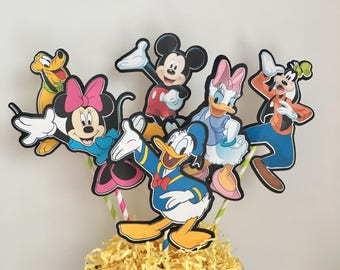 Disney Mickey Mouse Clubhouse Set of 6 Centerpiece Picks (Double-Sided)