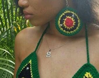 St. Kitts & Nevis Earrings/Juniors/Women's Earrings (Large)