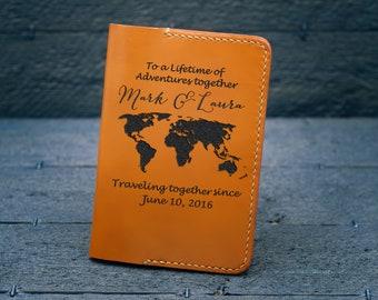 Personalized Passport Cover / Passport holder women /  Gift for women/  Birthday Gift for her / Anniversary Gift / World Map - PC02#70