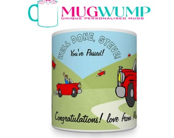 Personalised Driving Test Pass Male. Driving Test Pass Mug. You Passed Your Driving Test.