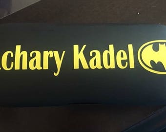 Personalized decal for eye glass case