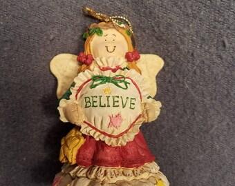 "San Francisco Music Box Company Musical Christmas Ornament ""Believe"""