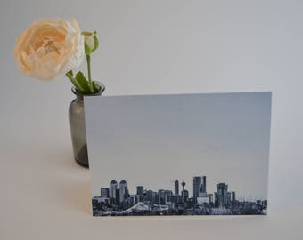 Calgary Skyline Card | Made in Canada | Blank Card | Made in Canada | YYC | Alberta | Cards with Envelopes | Calgary Photo