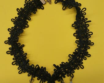 Choker Black Lace with Cameo