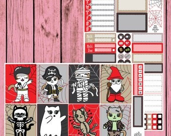 Halloween Mauly  - 2 page mini kit - Elvis - Pirate - Mummy - Gnome - Skeleton - Ghost - Voodoo Doll - Frankenstein