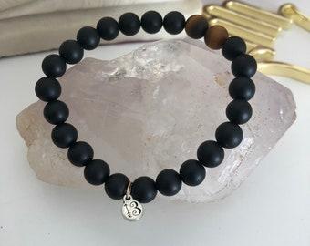 Black Onyx and Tiger Eye Mala Bracelet