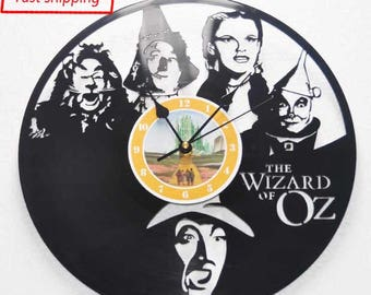 Wizard of Oz themed Vinyl Album Record Clock made in the > USA < with FREE Shipping!