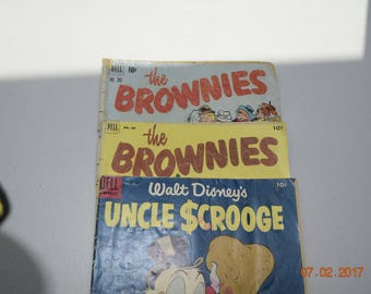 Uncle Scrooge and The Brownies Comic Books  (3 Comic Books)