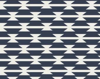 Tomahawk Stripe in Night. Arizona by April Rhodes. Novelty Fabric. Tribal Fabric. Aztec Fabric. - Fabric by the Half Yard