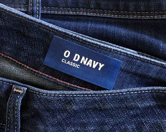 Custom jeans woven label, woven label for jeans, jeans size label