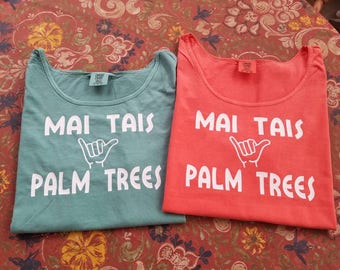 Tank Top - Mai Tai's and Palm Trees