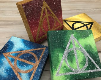 """Glittering Hallows"" - Freestanding Painted Canvases Inspired by Harry Potter - Five Variants Available"