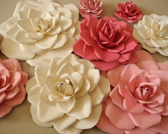 6 Piece Paper Flowers