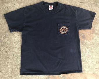Men's Harley Davidson Jackson Wyoming Navy Pocket T-Shirt