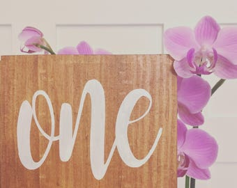 Wooden table number, wood table number, Wedding Table Numbers, farmhouse wedding decor, chic table decor, barn wedding decor, regal rustic
