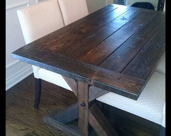 Custom Farm House Table for Lisa