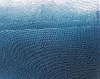 Petrol blue tulle netting - fabric remnant 120x135cm