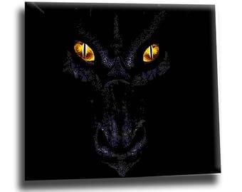 Dragon oil painting on canvas, dragon wall art, dragon home decor, dragon artwork