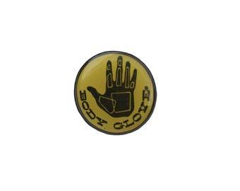 Body Glove Pin Metal Enamel Vintage
