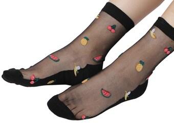 Clear Fruity Ankle Socks