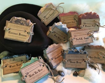 WILD WILD WEST Soap Collection-Large 5-6oz. bars of Shea Butter Soap in many of your favorite Wild West Fragrances
