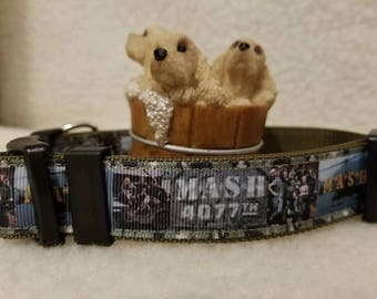 Mash 4077th Handmade Dog Collar 1 Inch Wide Large Only