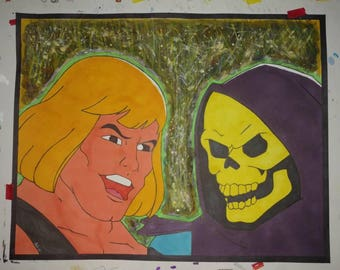 He-Man vs Skeletor 11x14 Print