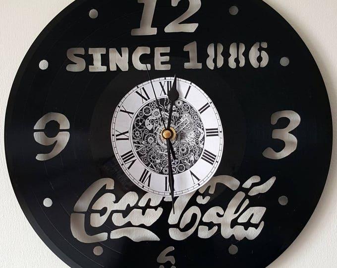 Vinyl 33 clock towers Coca-Cola theme