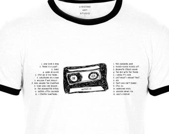 Mixtape T-Shirt THE SMITHS by Lissome Art Studio